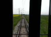 Tren histórico de vía estrecha en las montañas Ródope