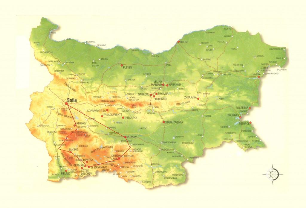 Ruta de los Picos de Bulgaria