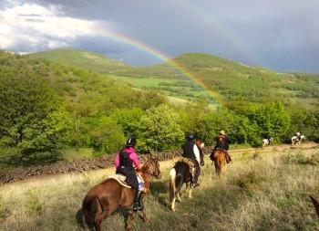 viaje a caballo por Bulgaria